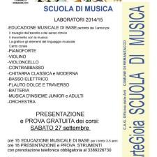 Volantino presentazione corsi anno 2014/15